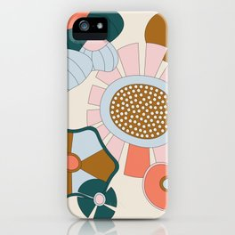 Abstract Graphic Flower Print 2 iPhone Case