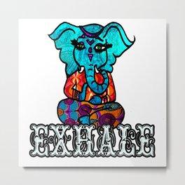 Exhale Ganesh Metal Print