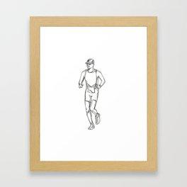 Marathon Running Doodle Art Framed Art Print