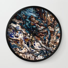 Flowing Water and Earth Pattern Wall Clock