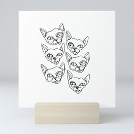 cats. Mini Art Print