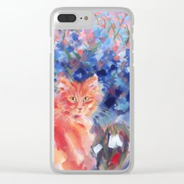 Ginger Blue Clear iPhone Case