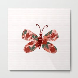 Floral collared butterfly Metal Print