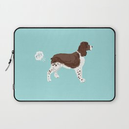 english springer spaniel funny farting dog breed gifts Laptop Sleeve