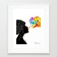 charmaine Framed Art Prints featuring Easy Talk by Sarah Margulies