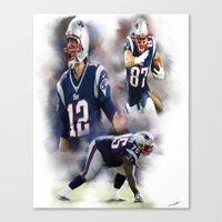 patriots Canvas Prints featuring patriots nation by Ericsmithart