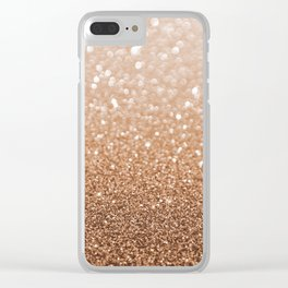 Copper Shiny Powder Texure Clear iPhone Case