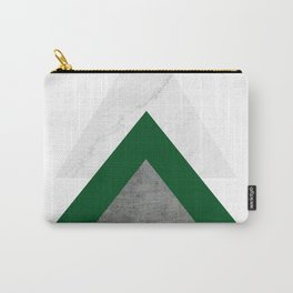 Marble Green Concrete Arrows Collage Carry-All Pouch