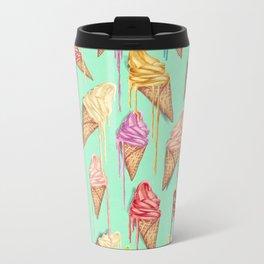 melted ice creams Metal Travel Mug