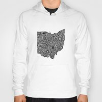 ohio state Hoodies featuring Typographic Ohio by CAPow!