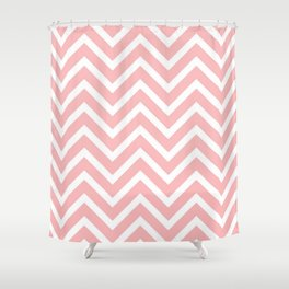 Pink zigzag design Shower Curtain