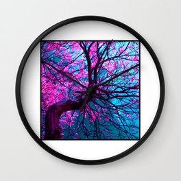 purple tree XII Wall Clock
