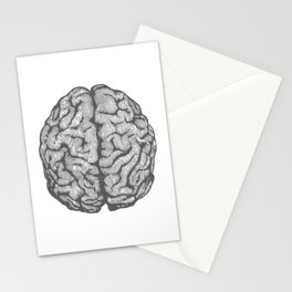 Brain vintage illustration Stationery Cards