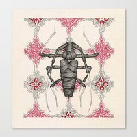 beetle Canvas Prints featuring Beetle by Cullinan Les