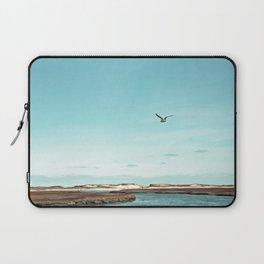Minimalist Blue And Brown Seascape Laptop Sleeve
