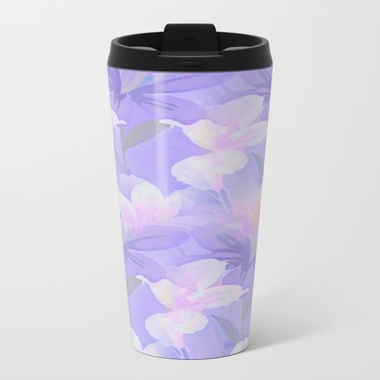 Abundance Of Flowers - Painterly Metal Travel Mug