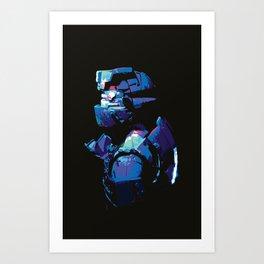 Dead Space: Splatter Isaac Art Print
