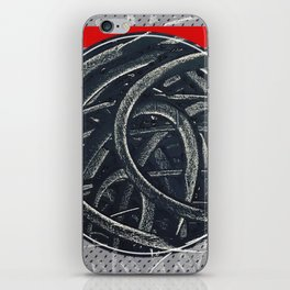 Junction - red graphic iPhone Skin