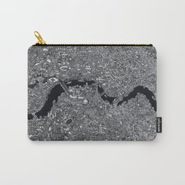 London map black and white Carry-All Pouch