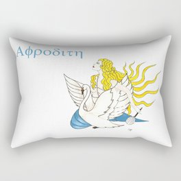 The Lady Aphrodite, The Golden Kypria. Rectangular Pillow