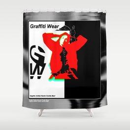 GRAFFITI WEAR...times red Shower Curtain