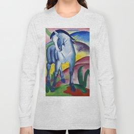 Franz Marc - Blaues Pferd - Blue Horse Long Sleeve T-shirt