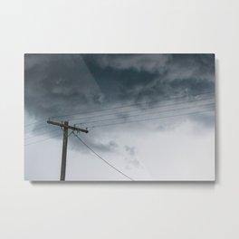 Cloudy Line Metal Print
