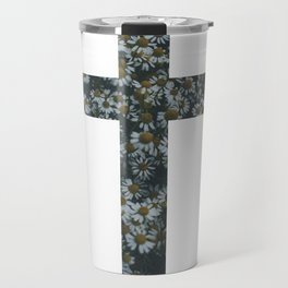 Flower Cross Travel Mug