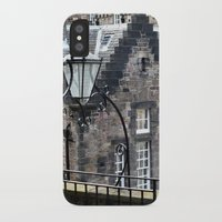 edinburgh iPhone & iPod Cases featuring Edinburgh castle by oxana zaika