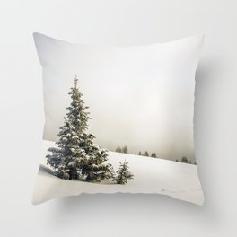 Walking in a Winter Wonderland Throw Pillow