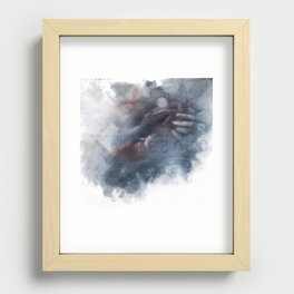 a permanent solution Recessed Framed Print
