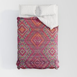 N118 - Pink Colored Oriental Traditional Bohemian Moroccan Artwork. Comforters