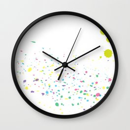 Background with colorful splashes Wall Clock