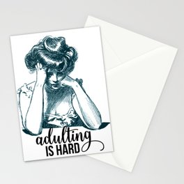 Adulting is Hard Stationery Cards