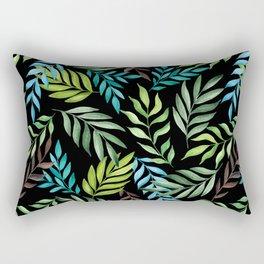 Tropical leaf pattern. Watercolor Rectangular Pillow