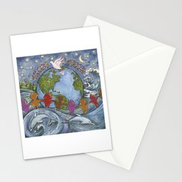 Peaceful Planet Stationery Cards