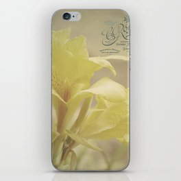 Yellow Canna iPhone Skin