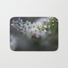 Choke Cherry Blossoms Bath Mat