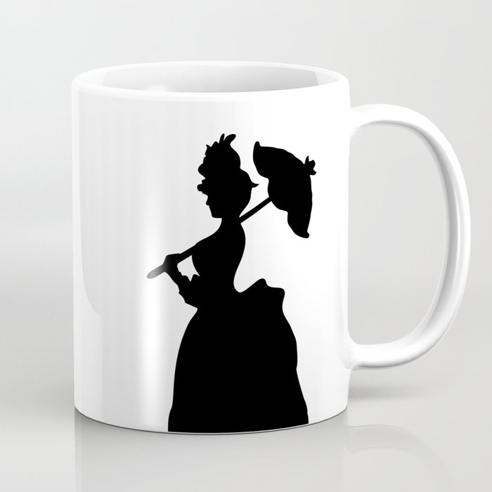 Victorian Woman - black & white - Woman in a Dressing Gown Coffee ...
