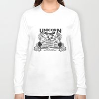 boxing Long Sleeve T-shirts featuring Unicorn Boxing by Kellabell9