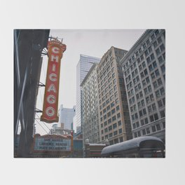The Windy City Throw Blanket