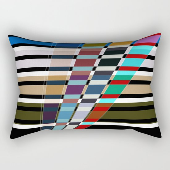 Abstract stripes . Oblique stripes 1 . Rectangular Pillow
