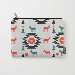 Deer in red and green Carry-All Pouch