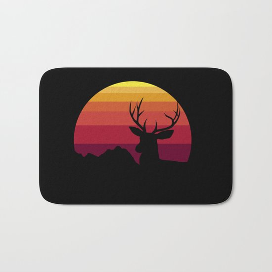 wild sunset Bath Mat