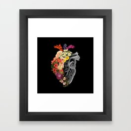 Flower Heart Spring Framed Art Print