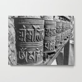 Nepali praying wheels Metal Print