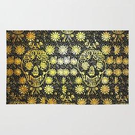 Gold Tiled Sugar Skulls Rug