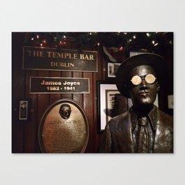 James Joyce / Temple Bar Dublin Canvas Print