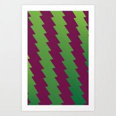 Zig Zags Art Print