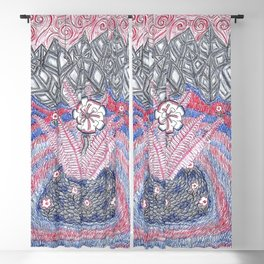 Abstract Flower Field Blackout Curtain